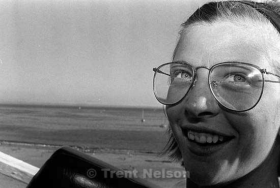 Laura Nelson riding a roller coaster<br />