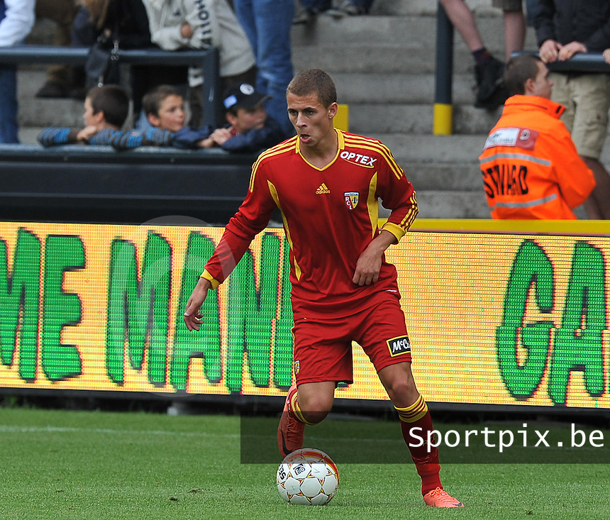 20120710 - LOKEREN , BELGIUM : RC Lens'  THORGAN HAZARD pictured during the friendly soccer match between Racing Club de LENS and Lokeren , in  Lokeren . Tuesday 10 July 2012 . PHOTO DAVID CATRY