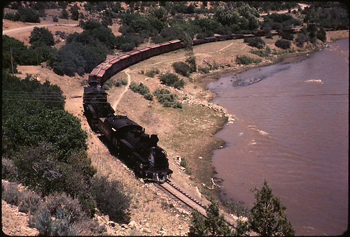 D&amp;RGW #478 in Gato area along San Juan River.<br /> D&amp;RGW  Gato area, CO