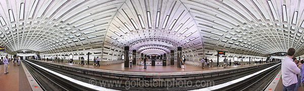 Metro Center subway station in Washington DC