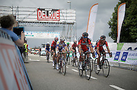 teammates Greg Van Avermaet (BEL/BMC) &amp; Philippe Gilbert (BEL/BMC) chasing after the race leaders <br /> <br /> Belgian National Road Cycling Championships 2016<br /> Les Lacs de l'Eau d'Heure