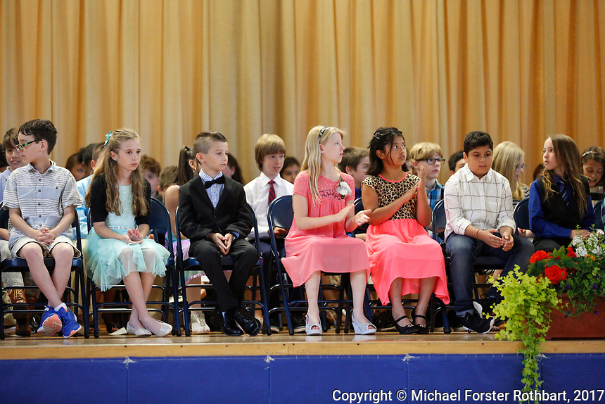 The Oneonta Greater Plains elementary school fifth grade awards ceremony, on June 21, 2017.<br /> &copy; Michael Forster Rothbart Photography<br /> www.mfrphoto.org &bull; 607-267-4893<br /> 34 Spruce St, Oneonta, NY 13820<br /> 86 Three Mile Pond Rd, Vassalboro, ME 04989<br /> info@mfrphoto.org<br /> Photo by: Michael Forster Rothbart<br /> Date:  6/21/2017<br /> File#:  Canon &mdash; Canon EOS 5D Mark III digital camera frame C19120