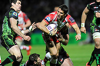 James Hook of Gloucester Rugby in action during the European Rugby Challenge Cup semi final match between Gloucester Rugby and Exeter Chiefs at Kingsholm Stadium on Saturday 18th April 2015 (Photo by Rob Munro)