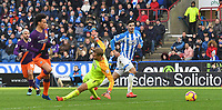 Manchester City's Leroy Sane scores his sides 3rd goal<br /> <br /> Photographer Dave Howarth/CameraSport<br /> <br /> The Premier League - Huddersfield Town v Manchester City - Sunday 20th January 2019 - John Smith's Stadium - Huddersfield<br /> <br /> World Copyright © 2019 CameraSport. All rights reserved. 43 Linden Ave. Countesthorpe. Leicester. England. LE8 5PG - Tel: +44 (0) 116 277 4147 - admin@camerasport.com - www.camerasport.com