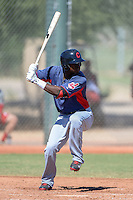 Cleveland Indians outfielder D'vone McClure (9) during an instructional league game against the Cincinnati Reds on September 28, 2013 at Goodyear Training Complex in Goodyear, Arizona.  (Mike Janes/Four Seam Images)