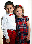 WATERBURY CT. 06 December 2016-120616SV10-Christmas Kid. <br /> Tyler Holtman, 7, and his sister Madelyn Holtman, 5, of Woodbury. <br /> Steven Valenti Republican-American