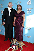 LOS ANGELES - OCT 5:  Anna Barbosa, Gus at the 9th Annual American Humane Hero Dog Awards at the Beverly Hilton Hotel on October 5, 2019 in Beverly Hills, CA