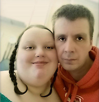 Pictured L-R: Georgia Davis with boyfriend Matthew Takel.<br />