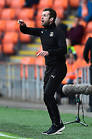 Luton Town manager Nathan Jones issues instructions<br /> <br /> Photographer Richard Martin-Roberts/CameraSport<br /> <br /> The EFL Sky Bet League Two Play-Off Semi Final First Leg - Blackpool v Luton Town - Sunday May 14th 2017 - Bloomfield Road - Blackpool<br /> <br /> World Copyright &copy; 2017 CameraSport. All rights reserved. 43 Linden Ave. Countesthorpe. Leicester. England. LE8 5PG - Tel: +44 (0) 116 277 4147 - admin@camerasport.com - www.camerasport.com