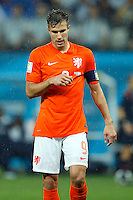 Robin van Persie of the Netherlands looks dejected