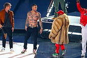 3rd February 2019, Atlanta Georgia, USA; NFL Superbowl LIII, New England Patriots versus Los Angeles Rams;  Adam Levine and Big Boi on stage during the Pepsi Halftime Show during Super Bowl LIIIe)