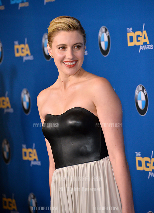 Greta Gerwig at the 70th Annual Directors Guild Awards at the Beverly Hilton Hotel, Beverly Hills, USA 03 Feb. 2018<br /> Picture: Paul Smith/Featureflash/SilverHub 0208 004 5359 sales@silverhubmedia.com