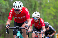 Picture by Alex Whitehead/SWpix.com - 14/04/2018 - Commonwealth Games - Cycling Road - Currumbin Beachfront, Gold Coast, Australia - Manon Lloyd and Jess Roberts of Wales in action during the Women's Road Race.