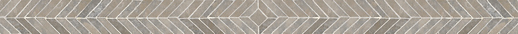 "2 13/16"" Harris border, a hand-cut mosaic shown in tumbled Montevideo by New Ravenna."
