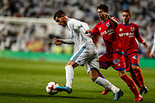10th January 2018, Santiago Bernabeu, Madrid, Spain; Copa del Rey football, round of 16, 2nd leg, Real Madrid versus Numancia; Theo Hernandez (Real Madrid) drives forward on the ball
