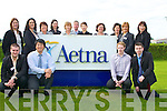 STAFF: Staff members of Aetna Inc who were at the 20th Anniversary of Aetna Inc, Castleisland on Thursday l-r: Paul Hennessy,Jeff Liu,Michelle M Browne,Jacqueline Corcoran, Margaret McCarthy,Jane Dwyer,Geraldine Collins,Joe Vinten,Ma?ire?ad Mulcahy,Joan Griffin,Helen Horan,Eileen Brennan,Jacinta O'neill, Aidan O'Connor and Padraig Dillane..    Copyright Kerry's Eye 2008