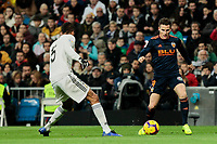 Real Madrid's Raphael Varane and Valencia CF's Kevin Gameiro during La Liga match between Real Madrid and Valencia CF at Santiago Bernabeu Stadium in Madrid, Spain. December 01, 2018. (ALTERPHOTOS/A. Perez Meca) /NortePhoto NORTEPHOTOMEXICO