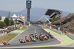Race starting , Moto GP, Gran Premi Monster Energy de Catalunya