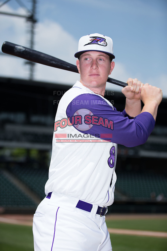 Winston-Salem Dash catcher Zack Collins (8) poses for a photo prior to the game against the Buies Creek Astros at BB&T Ballpark on April 16, 2017 in Winston-Salem, North Carolina.  The Dash defeated the Astros 6-2.  (Brian Westerholt/Four Seam Images)