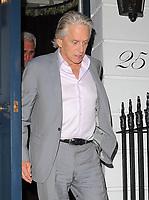 Michael Douglas At Oswalds Club Mayfair