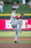 Salem Red Sox starting pitcher Daniel McGrath (18) in action against the Winston-Salem Dash at BB&T Ballpark on June 16, 2016 in Winston-Salem, North Carolina.  The Dash defeated the Red Sox 7-1.  (Brian Westerholt/Four Seam Images)