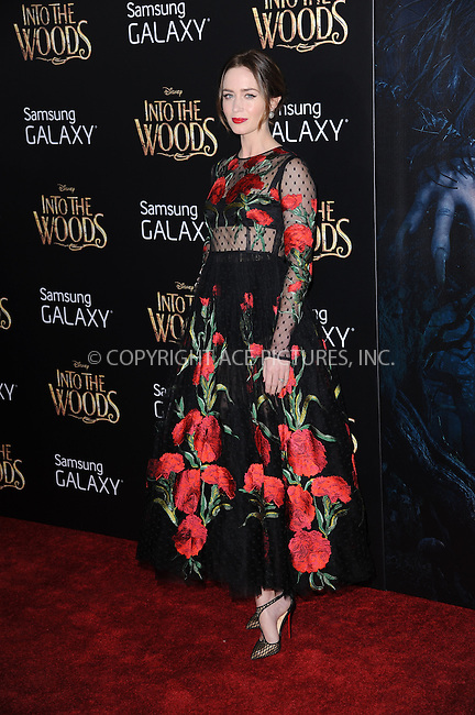 WWW.ACEPIXS.COM<br /> December 8, 2014 New York City<br /> <br /> Emily Blunt attending the World Premiere of 'Into the Woods' at the Ziegfeld Theatre on December 8, 2014 in New York City.<br /> <br /> Please byline: Kristin Callahan/AcePictures<br /> <br /> Tel: (212) 243 8787 or (646) 769 0430<br /> e-mail: info@acepixs.com<br /> web: http://www.acepixs.com
