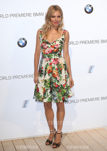Sienna Miller arriving for the BMW i3 Launch Party, at Old Billingsgate, London. 29/07/2013 Picture by: Alexandra Glen / Featureflash