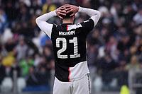 Gonzalo Higuain of Juventus dejection <br /> Torino 1-12-2019 Juventus Stadium <br /> Football Serie A 2019/2020 <br /> Juventus FC - US Sassuolo 2-2 <br /> Photo Federico Tardito / Insidefoto
