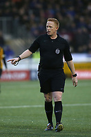 Match referee, Mr Alan Young during Maidstone United vs Oldham Athletic, Emirates FA Cup Football at the Gallagher Stadium on 1st December 2018