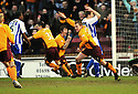 09/02/2008    Copyright Pic: James Stewart.File Name : sct_jspa08_motherwell_v_kilmarnock.DAVID CLARKSON CELEBRATES AFTER HE HEADS HOME MOTHERWELL'S LATE WINNER.James Stewart Photo Agency 19 Carronlea Drive, Falkirk. FK2 8DN      Vat Reg No. 607 6932 25.Studio      : +44 (0)1324 611191 .Mobile      : +44 (0)7721 416997.E-mail  :  jim@jspa.co.uk.If you require further information then contact Jim Stewart on any of the numbers above........