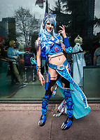 Blue Lion, Guardian Spirit of Water and Ice, Sakura Con 2018, Seattle, WA, USA.