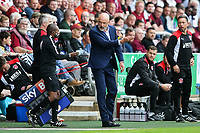 Fleetwood Town manager Uwe Rosler remonstrates with the fourth official.<br /> <br /> Photographer Andrew Kearns/CameraSport<br /> <br /> The EFL Sky Bet League One - Northampton Town v Fleetwood Town - Saturday August 12th 2017 - Sixfields Stadium - Northampton<br /> <br /> World Copyright &copy; 2017 CameraSport. All rights reserved. 43 Linden Ave. Countesthorpe. Leicester. England. LE8 5PG - Tel: +44 (0) 116 277 4147 - admin@camerasport.com - www.camerasport.com