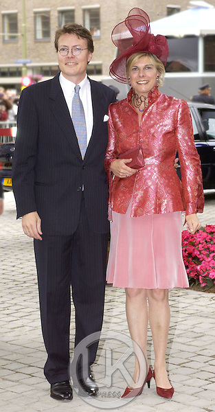 Prince Constantijn & Princess Laurentien attends the Christening of Crown Prince Willem-Alexander & Crown Princess Maxima of Holland's daughter Catharina-Amalia at the St. Jacobskerk Church in The Hague..