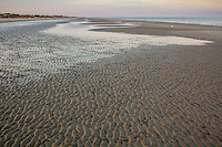 Ripples in the sand on Jekyll Island Georgia at low tide.