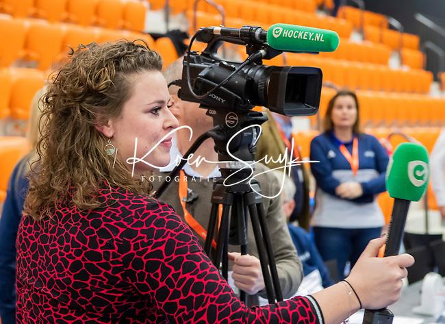 ROTTERDAM  - NK Zaalhockey,   wedstrijd om brons.  heren Oranje Rood- Kampong. OR wint. . Chloe Goossens (hockey.nl)      COPYRIGHT KOEN SUYK