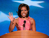 First lady Michelle Obama makes remarks at the 2012 Democratic National Convention in Charlotte, North Carolina on Tuesday, September 4, 2012.  .Credit: Ron Sachs / CNP.(RESTRICTION: NO New York or New Jersey Newspapers or newspapers within a 75 mile radius of New York City)