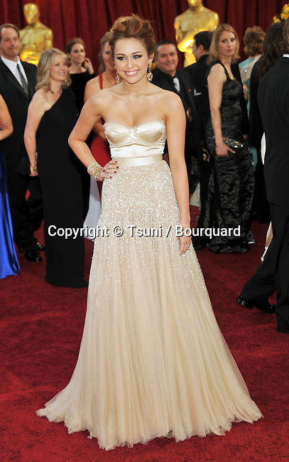 Milley Cyrus _340   -<br /> 82nd Academy Awards arrival at the Kodak Theatre In Los Angeles.