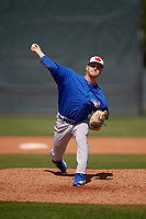 Toronto Blue Jays pitcher Ty Tice (48) during a Minor League Spring Training game against the Philadelphia Phillies on March 29, 2019 at the Carpenter Complex in Clearwater, Florida.  (Mike Janes/Four Seam Images)