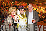 Pictured at Elvis concert at the INEC, Killarney, on Saturday were l-r: Anne Foley (Killorglin) Nick Browne (Caragh Lake) and Nick Foley (Killorglin)..