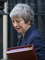 NOV 14 Theresa May Leaves Downing Street For PMQs