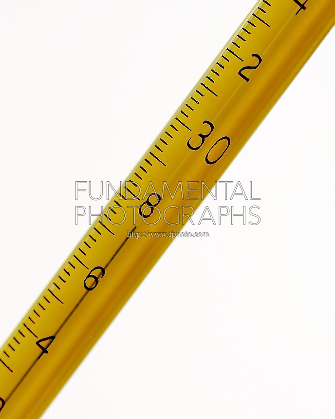 APPROXIMATE MEASUREMENT - TEMPERATURE<br /> Thermometer Reading 27.45' C.<br /> Variations Available<br /> This thermometer has markings every tenth of a degree, the reading of 27.45' C must be estimated.
