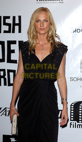 JOELY RICHARDSON.The British Independent Film Awards held at Hammersmith Palais, London..UK, United Kingdom..30th November 2005.© TOM BELCHER.half length black dress sparkly sequinned sequins on shoulders.www.capitalpictures.com.sales@capitalpictures.com.© Capital Pictures.