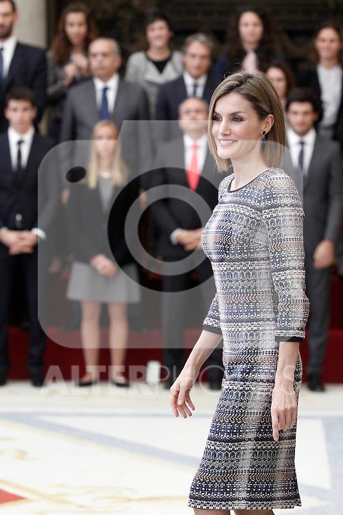 Queen Letizia of Spain during the National Sports Awards 2014. November 17, 2015.(ALTERPHOTOS/Acero)