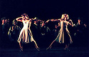 1999 - CARMINA BURANA - Carmina -  Ashley Roland (IN White) dances with Sara Anderson of the BODYVOX troup of dancers during Opera Pacifics performance of Carmina Burana.