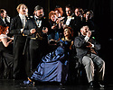 Glasgow, UK. 16.10.2017. Scottish Opera presents La Traviata, at the Theatre Royal Glasgow from October 19th, before touring to Aberdeen, Inverness and Edinburgh from November 2nd.  This production is directed by Marie Lambert (original director is Sir David McVicar), with design by Tanya McCallin and lighting design by Stephen Powles (original lighting design by Jennifer Tipton). The cast is: Gulnara Shafigullina (ViolettaValéry), Peter Gijsbertsen(Alfredo Germont), Stephen Gadd(Giorgio Germont), Laura Zigmantaite (Flora Bervoix), Simon Thorpe(Baron Douphol), Christopher Turner (Gastone), Alex Otterburn (Marchese D'Obigny), James Platt (Doctor Grenvil), Catherine Backhouse (Annina). Photograph © Jane Hobson.