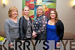 Joan Giffin, Dierdre Moynihan, Noreen Walsh and Michelle Walsh enjoying Ardfert Idol in Ballyroe Heights Hotel