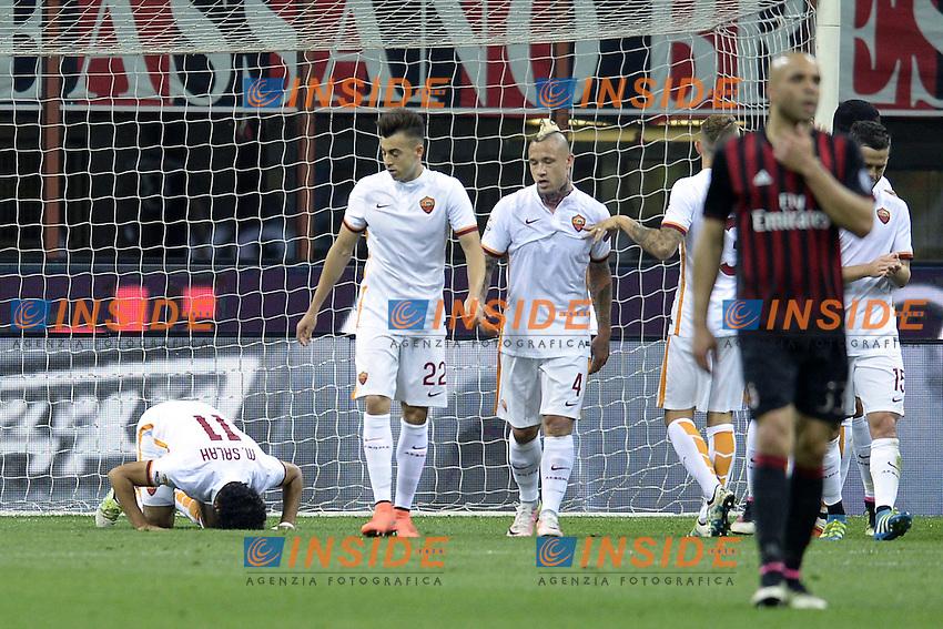 esultanza gol Mohamed Salah goal celebration<br /> Milano 14-05-2016 Stadio Giuseppe Meazza Football Calcio Serie A 2015/2016 Milan-Roma . Foto Daniele Buffa / Image Sport / Insidefoto