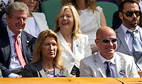 Andre Agassi, Steffi Graf..Tennis - Grand Slam - The Championships Wimbledon - AELTC - The All England Club - London - Wed July 4th 2012. .© AMN Images, 30, Cleveland Street, London, W1T 4JD.Tel - +44 20 7907 6387.mfrey@advantagemedianet.com.www.amnimages.photoshelter.com.www.advantagemedianet.com.www.tennishead.net