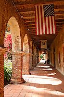 North Corridor At The Historic Mission San Juan Capistrano, Orange County, California