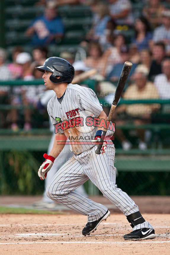 Brian Dozier of the Ft. Myers Miracle during the game against the Daytona Cubs July 15 2010 at Jackie Robinson Ballpark in Daytona Beach, Florida. Photo By Scott Jontes/Four Seam Images